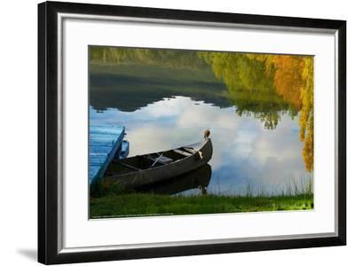 Lake Reflection-Sally Linden-Framed Art Print