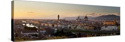 A Panoramic View of Florence at Twilight-Stephen Alvarez-Stretched Canvas Print