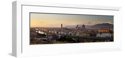 A Panoramic View of Florence at Twilight-Stephen Alvarez-Framed Photographic Print