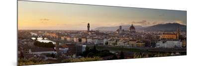 A Panoramic View of Florence at Twilight-Stephen Alvarez-Mounted Photographic Print