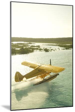 A PA18 Super Cub Floatplane at Conception Island-Jad Davenport-Mounted Photographic Print