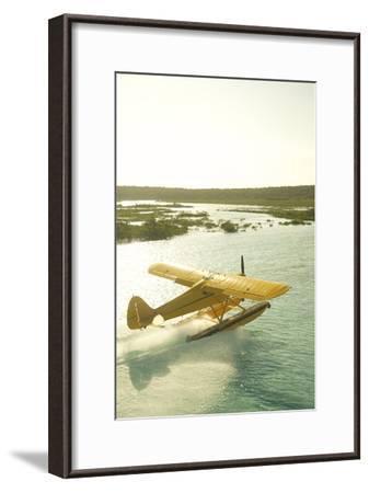A PA18 Super Cub Floatplane at Conception Island-Jad Davenport-Framed Photographic Print