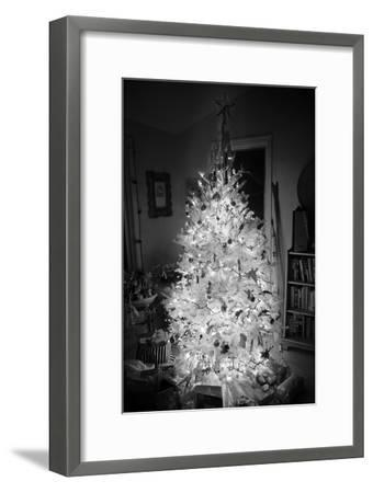 An Infrared Shot of a Brightly-lit Indoor Christmas Tree-Stephen Alvarez-Framed Photographic Print