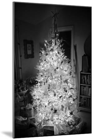 An Infrared Shot of a Brightly-lit Indoor Christmas Tree-Stephen Alvarez-Mounted Photographic Print