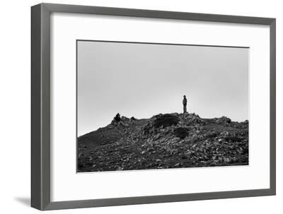 A Boy Looks Into Spain Near Pierre St Martin, France-Stephen Alvarez-Framed Photographic Print