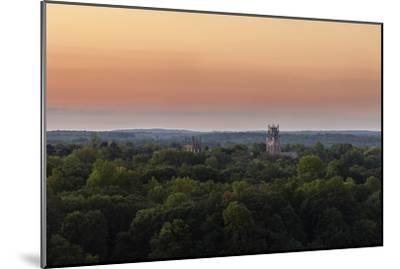 Shapard and Bresslen Towers Rise Over the Forest in Sewanee, Tenn-Stephen Alvarez-Mounted Photographic Print