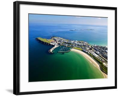 Aerial View Over Portrush, Northern Ireland-Chris Hill-Framed Photographic Print