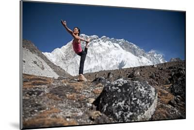 A Woman Doing the Lord of the Dance Pose, Or Natarajasana-Cory Richards-Mounted Photographic Print