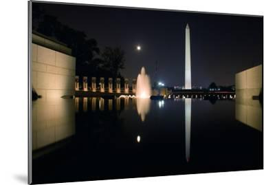 The Washington Monument Reflected in the World War II Memorial Pool-Vickie Lewis-Mounted Photographic Print
