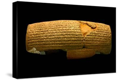 The Cyrus Cylinder, 6th Century BC, the First Declaration of Human Rights-Babak Tafreshi-Stretched Canvas Print