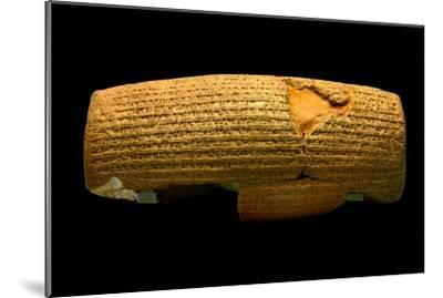 The Cyrus Cylinder, 6th Century BC, the First Declaration of Human Rights-Babak Tafreshi-Mounted Photographic Print