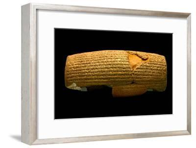 The Cyrus Cylinder, 6th Century BC, the First Declaration of Human Rights-Babak Tafreshi-Framed Photographic Print
