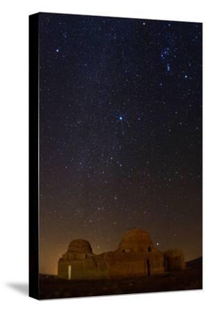 Sirius, Canopus, and Orion Over 1600-year-old Sasan Palace Ruins-Babak Tafreshi-Stretched Canvas Print