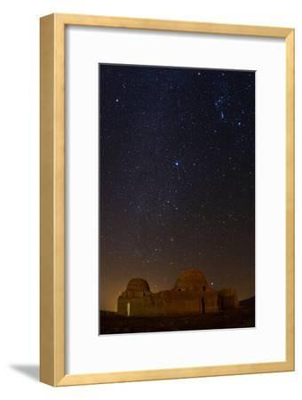 Sirius, Canopus, and Orion Over 1600-year-old Sasan Palace Ruins-Babak Tafreshi-Framed Photographic Print