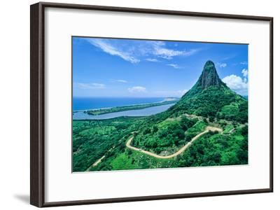 Quiahuitztlan, An Archaeological Ruin with Restored Temple and Tombs-David Hiser-Framed Photographic Print