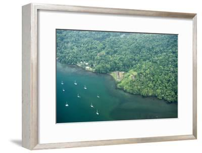 Aerial View of Fort San Fernando, Portobelo, Panama-Jonathan Kingston-Framed Photographic Print