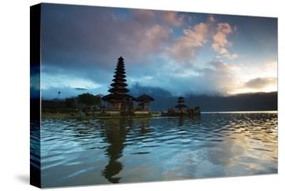 The Pura Ulun Danu Bratan Temple at Sunrise-Alex Saberi-Stretched Canvas Print