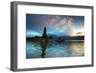 The Pura Ulun Danu Bratan Temple at Sunrise-Alex Saberi-Framed Photographic Print
