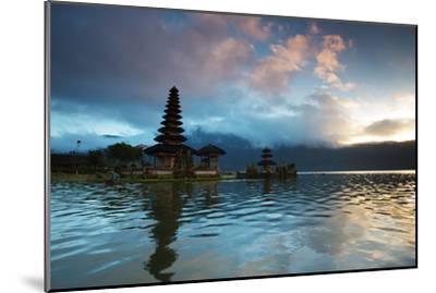 The Pura Ulun Danu Bratan Temple at Sunrise-Alex Saberi-Mounted Photographic Print
