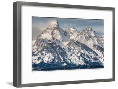 The Grand Teton, Mt. Owen, and Mt. Teewinot in Winter-Greg Winston-Framed Photographic Print