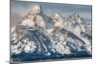 The Grand Teton, Mt. Owen, and Mt. Teewinot in Winter-Greg Winston-Mounted Photographic Print