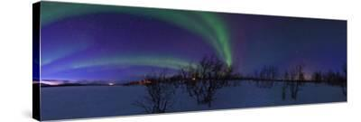 Aurora Borealis, with Jupiter and Venus in a Rare Close Conjunction-Babak Tafreshi-Stretched Canvas Print