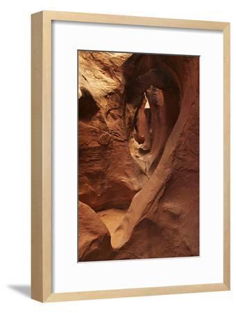 A Slot Canyon in Grand Staircase Escalante National Monument-Bob Smith-Framed Photographic Print