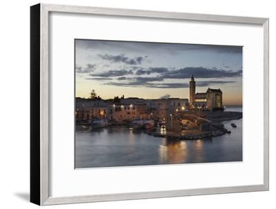 A Dusk View of the Fishing Harbor of Trani-Nigel Hicks-Framed Photographic Print
