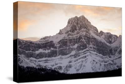 The Imposing North Face of Howse Peak in the Waputik Range of the Canadian Rocky Mountains-Cory Richards-Stretched Canvas Print