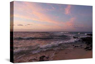 Sunrise on the Beach at Poipu Beach-Marc Moritsch-Stretched Canvas Print