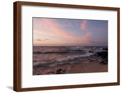 Sunrise on the Beach at Poipu Beach-Marc Moritsch-Framed Photographic Print