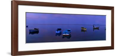Boats Moored Off Monte Cristi-Raul Touzon-Framed Photographic Print