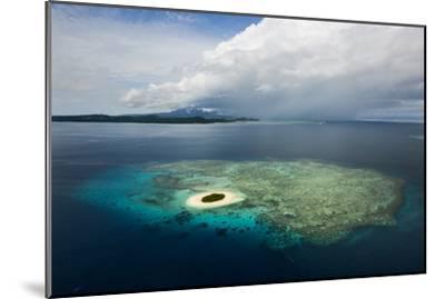 Coral Reefs and Islets Off Nadi Island-Mattias Klum-Mounted Photographic Print