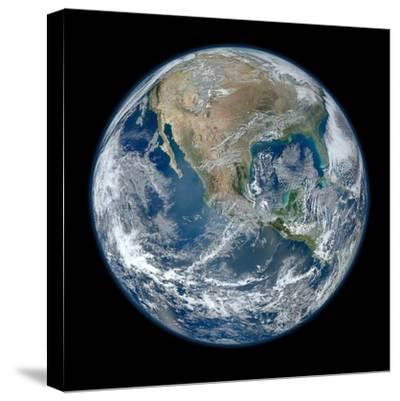 Earth Taken From Suomi NPP, NASA's Earth-observing Satellite--Stretched Canvas Print