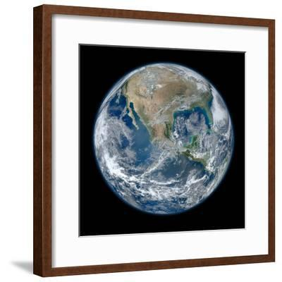 Earth Taken From Suomi NPP, NASA's Earth-observing Satellite--Framed Photographic Print