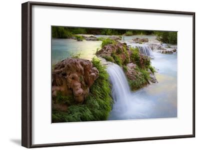 Havasu Creek Rushes Over Falls in Havasu Canyon-Derek Von Briesen-Framed Photographic Print