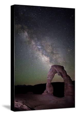 The Milky Way and Delicate Arch in Arches National Park-Dmitri Alexander-Stretched Canvas Print