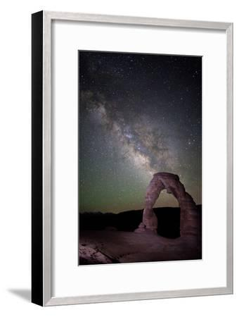 The Milky Way and Delicate Arch in Arches National Park-Dmitri Alexander-Framed Photographic Print