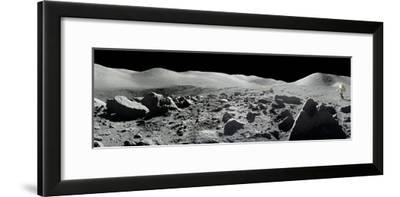An Apollo 17 Composite Photograph at Station 5 Shows a Stretch of Rock-strewn Moon Features--Framed Photographic Print