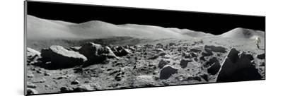 An Apollo 17 Composite Photograph at Station 5 Shows a Stretch of Rock-strewn Moon Features--Mounted Photographic Print