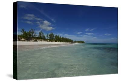 Tranquil Waters on Eleuthera Beach-Raul Touzon-Stretched Canvas Print
