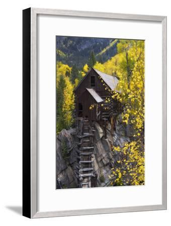 A Mill on a Rock Promontory Above the Crystal River-Robbie George-Framed Photographic Print
