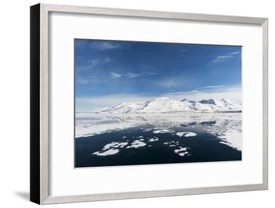 Monaco Glacier and Its Mirror Reflection on Arctic Waters-Sergio Pitamitz-Framed Photographic Print