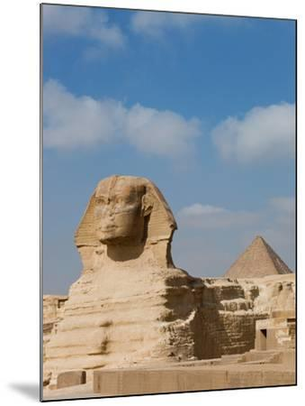 The Great Sphinx and Pyramids of Giza on a Sunny Day-Alex Saberi-Mounted Photographic Print