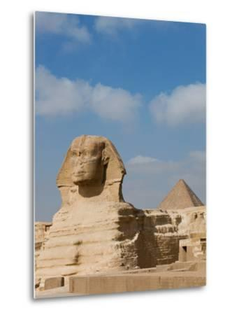 The Great Sphinx and Pyramids of Giza on a Sunny Day-Alex Saberi-Metal Print