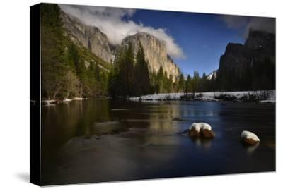 El Capitan Reflected in the Merced River-Raul Touzon-Stretched Canvas Print