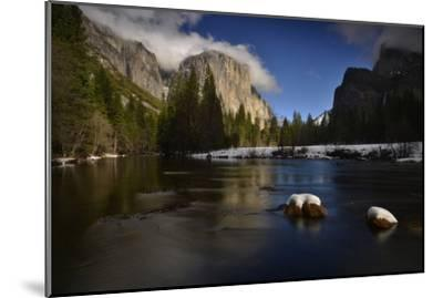 El Capitan Reflected in the Merced River-Raul Touzon-Mounted Photographic Print