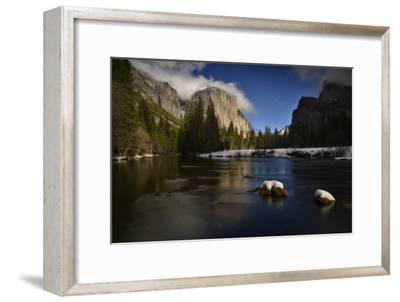 El Capitan Reflected in the Merced River-Raul Touzon-Framed Photographic Print