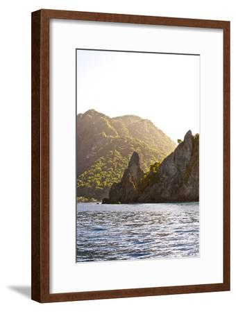Looking Back at Scotts Head and the Village From Fort Cachacrou-Jad Davenport-Framed Photographic Print