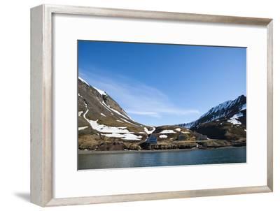 An Old Settlement Nestled Among Cliffs Near Longyearbyen on the Bay of Adventfjorden-Sergio Pitamitz-Framed Photographic Print